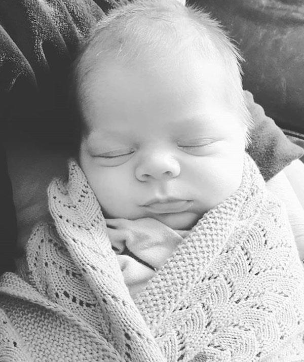 """This beautiful boy is such a joy. He is calm and peaceful and has made things very easy for his mum and dad. We are so incredibly lucky that we made it through and got to bring him home. I feel so grateful every time I look at him 💙,"" Lauren recently shared."