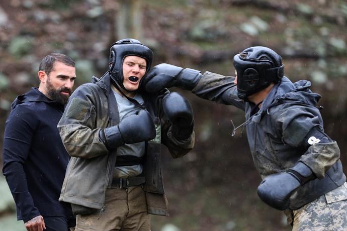 Jackson really threw himself into the SAS experience.