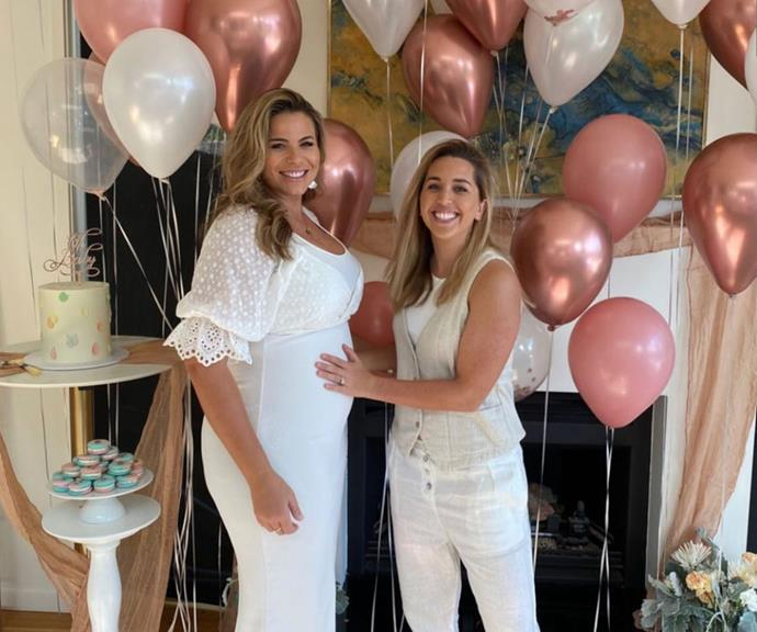 Fiona and Hayley are due to welcome their son in 2021.