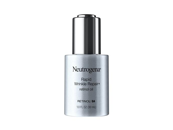 "[Neutrogena Rapid Wrinkle Repair Retinol Oil](https://www.neutrogena.com.au/face/serums/neutrogena-rapid-wrinkle-repair-retinol-oil|target=""_blank""