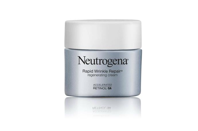 "[Neutrogena Rapid Wrinkle Repair Regenerating Cream](https://www.neutrogena.com.au/face/moisturisers/rapid-wrinkle-repair/regenerating-cream|target=""_blank""