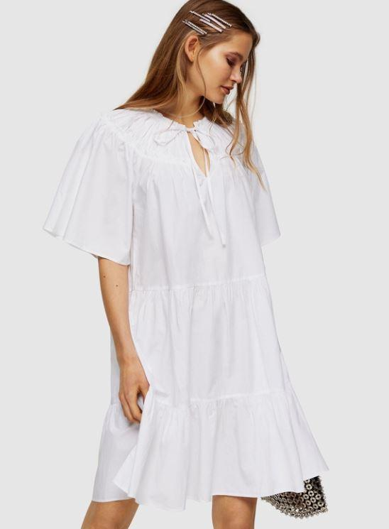 """TOPSHOP's poplin smock mini dress is a huge summer vibe in our humble opinions. $59,95 **[buy it online via The Iconic here](https://www.theiconic.com.au/poplin-smock-mini-dress-1103160.html