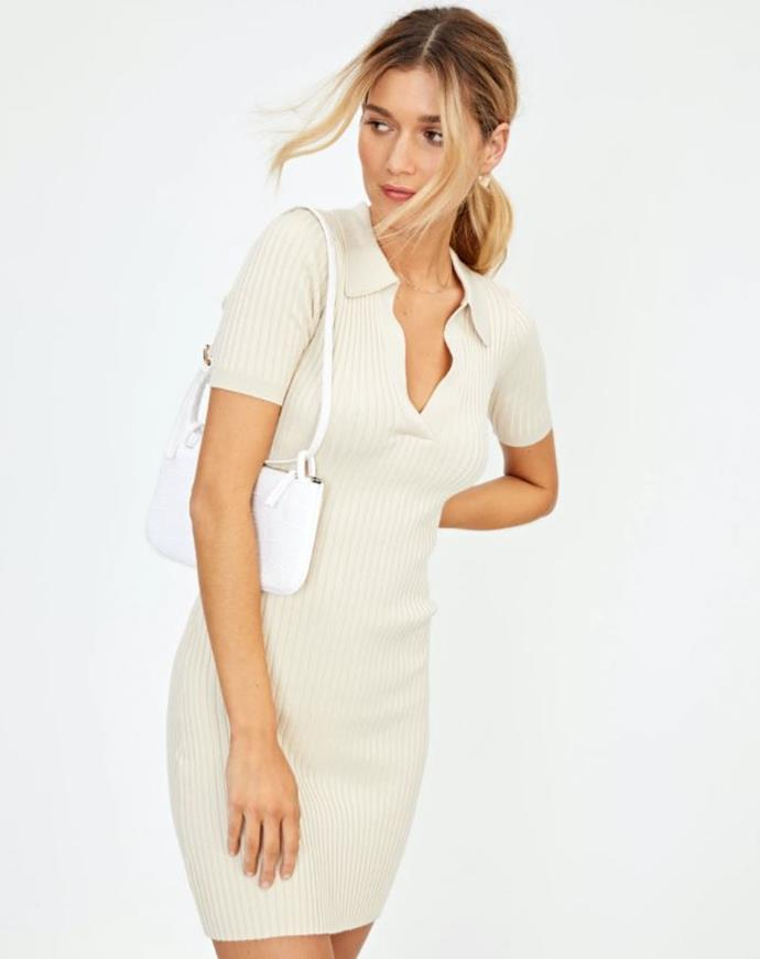 """Glassons' collared knit dress featuring flattering rib detailing is also a staple you'll be wearing non-stop. $49.99, **[buy it online here](https://www.glassons.com/collared-knit-dress-kd46899knt-mr-sandman