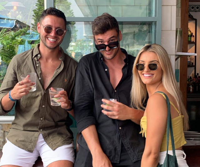 Damien with Todd and Cartier from Love Island.