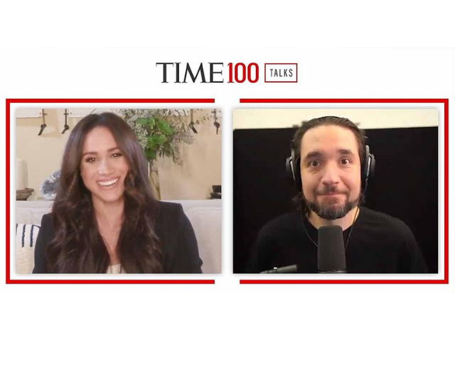 Meghan then led the conversation with a series of guests including Reddit co-founder and founder of 776 Alexis Ohanian (pictured).