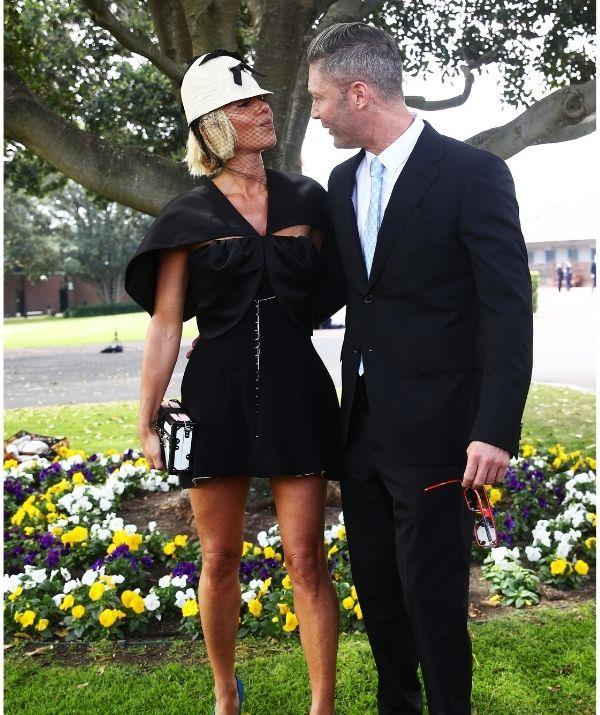 Michael and Pip made their first public appearance together at the Everest Cup Racing Carnival in Sydney.