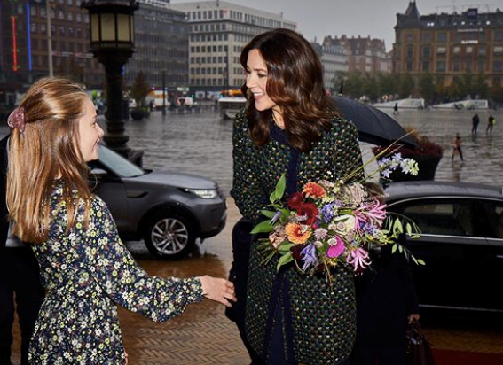 Princess Mary met with children who were involved in the Earth Hour initiative.