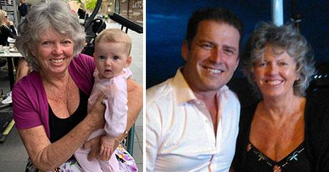 Karl Stefanovic's mother Jenny finally meets baby Harper five months after her birth