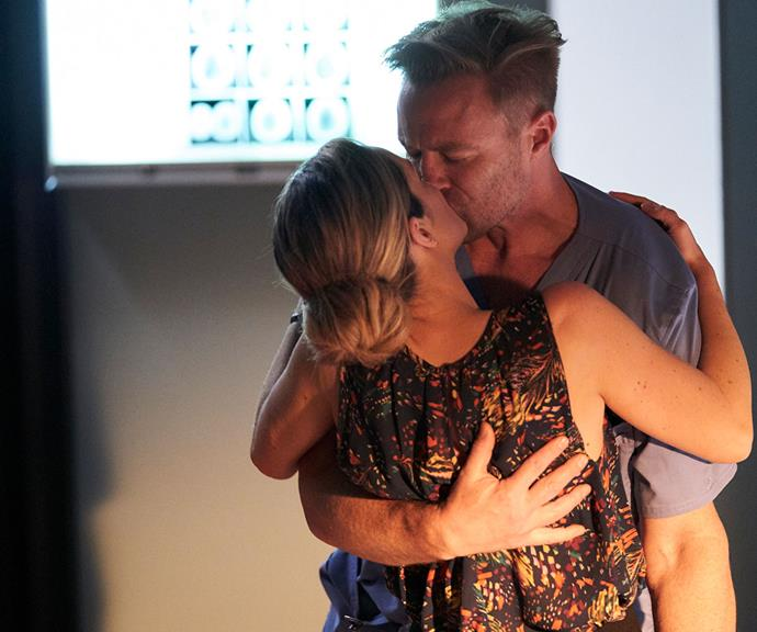 Tori spontaneously kisses Christian before realising what she's done.