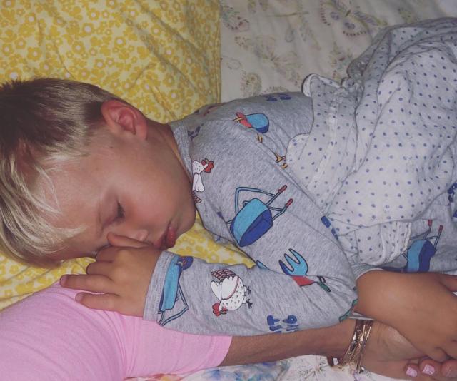 Lisa adores her grandson, Flynn.