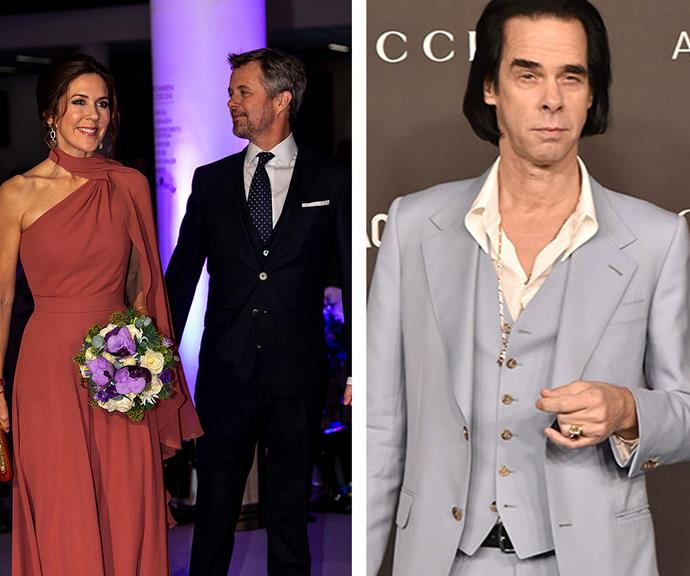 Nick Cave gave Crown Princess Mary and Crown Prince Frederik a VIP tour of his exhibition in Copenhagen.