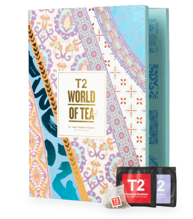 """**T2 Tea Christmas Countdown Advent Calendar Teabags**  <br><br> If you're a tea lover who just can't do without your daily cup of tea, this calendar from delicious tea specialty store T2 is perfect! <br><br> $40 from [T2 online](https://go.skimresources.com?id=105419X1569321&xs=1&url=https%3A%2F%2Fwww.t2tea.com%2Fen%2Fau%2Fchristmas-gift-guide-advent-calendar%2Fworld-of-tea%253A-teabag-advent-calendar-T145AK610.html%3Fgclid%3DCj0KCQjwufn8BRCwARIsAKzP6972YBvcG4eN8wZnhO1Tcr56_b7HB23yFxMjvBL6FoPOtg8ngAe2LHEaAv_4EALw_wcB%26gclsrc%3Daw.ds