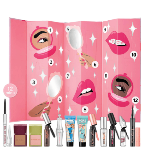 """**Benefit Shake Your Beauty Advent Calendar** <br><br> Perfect for the ultimate beauty lover, this calendar includes 12 minis from the cult makeup brand (these are worth $284!) <br><br> $119 from [Adore Beauty](https://go.skimresources.com?id=105419X1569321&xs=1&url=https%3A%2F%2Fwww.adorebeauty.com.au%2Fbenefit-cosmetics%2Fbenefit-shake-your-beauty-advent-calendar.html
