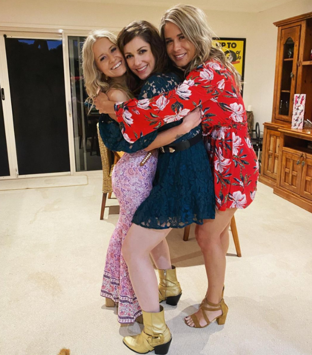Liz with her FWAW co-stars Maddie (left) and Justine (right).