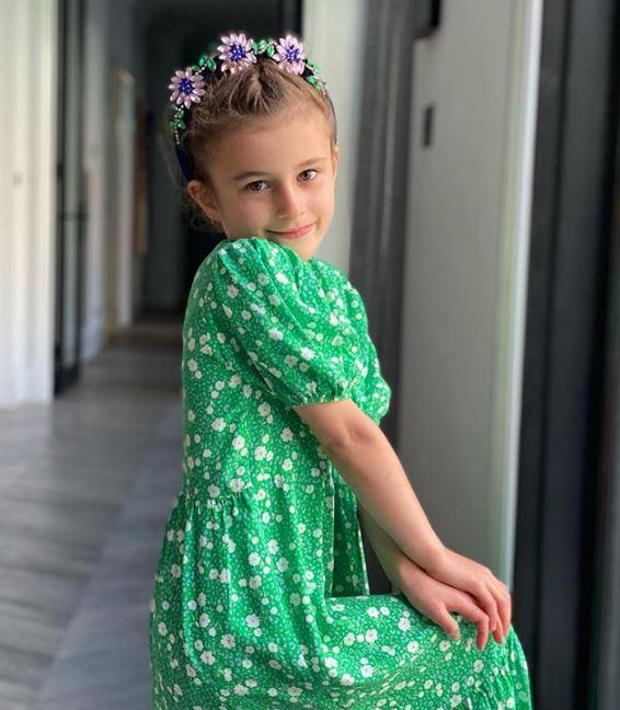 "Bec Judd's daughter Billie looked gorgeous in this sweet floral headpiece. ""She's all ready for Cup Day at home,"" Bec wrote alongside a green heart emoji. ""Have a great day everyone,"" she added."