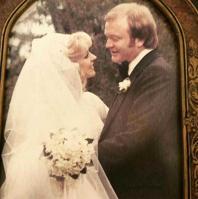 Patti shared this gorgeous snap from their wedding day.