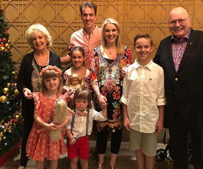 The couple's children and grandchildren light up their lives.