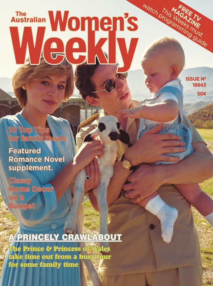 *The Crown* producers called *The Weekly* to ask for permission to mock up some vintage covers featuring their Diana, Charles and baby William.