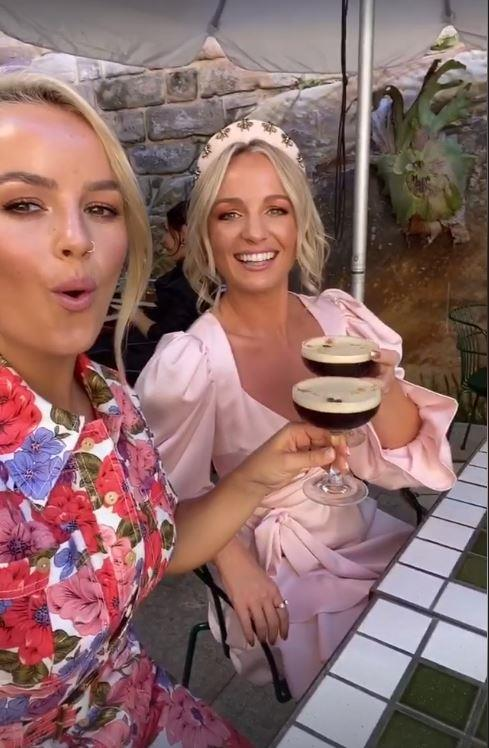 Elly looked gorgeous in a floral design, while Becky was perfectly pink in her puff sleeve frock. In true influencer style, the pair snapped an espresso martini selfie.