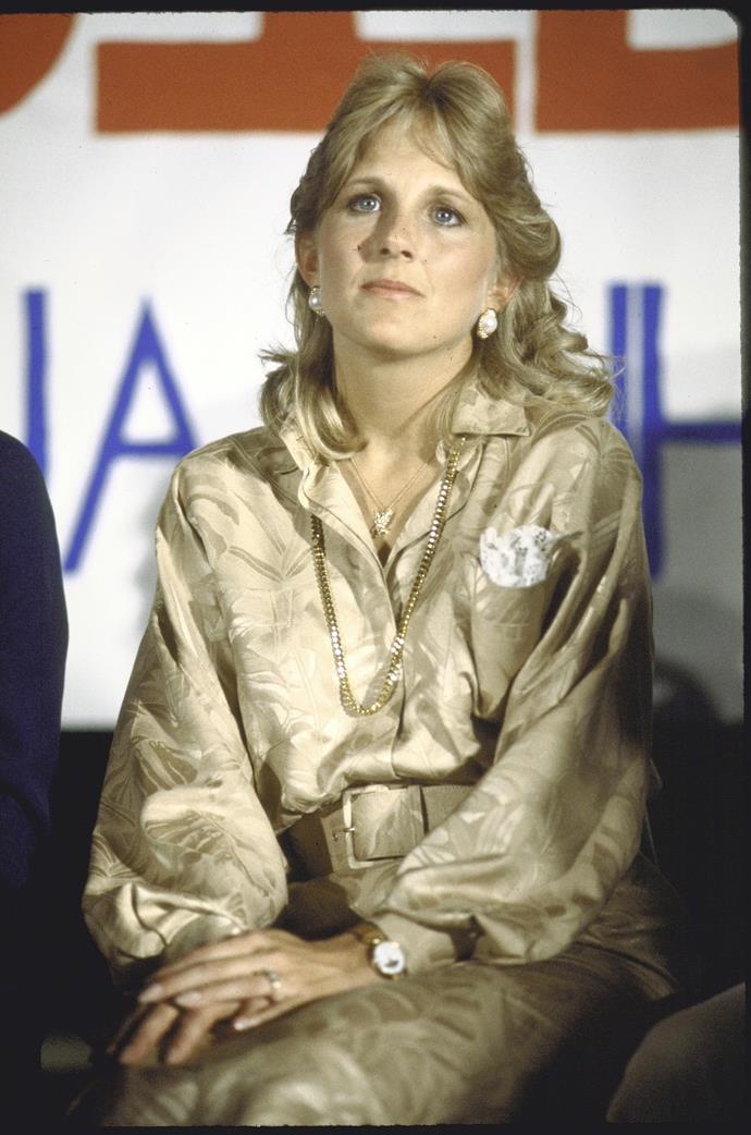 We'll leave you with a throwback that proves Jill's on point fashion choices are nothing new - back in 1988, she was just getting stated as her husband's strong (and stylish) support - how good was this golden ensemble? Long live Jill's simple, yet significant wardrobe!