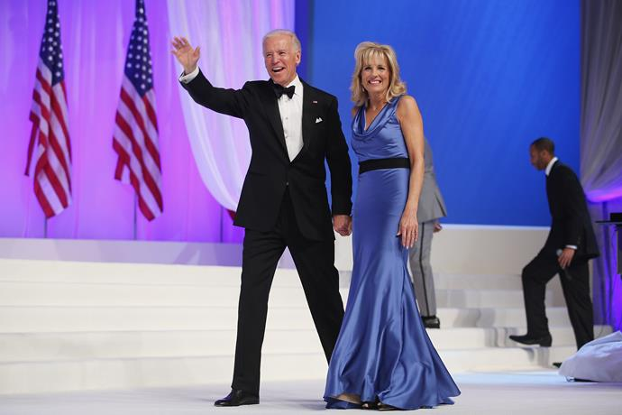 And we can't forget *this* heavenly blue dress she wore for the Comander-in-Chief's Inaugural Ball at the Walter Washington Convention Center back in 2013.