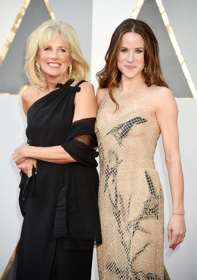 In 2016, Jill attended the Oscars in a, well, *Oscar*-worthy dress - and her daughter Ashley looked just as chic.