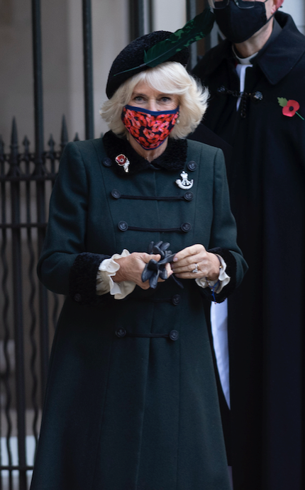Camilla stepped out at the Field of Remembrance at Westminster Abbey on Wednesday.
