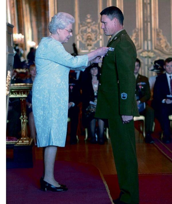 Mark was awarded an Order of the British Empire from HRH The Queen.