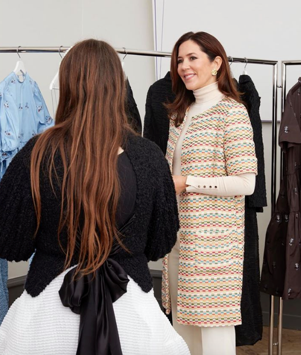 Princess Mary looked stunning for the fashion event.