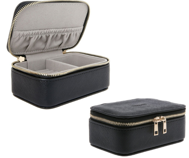 "**Travel jewellery case**<br><br>  Overseas trips may be off the cards for now, but those who have the travel bug are sure to be making the most of weekends away in our own beautiful country. <br><br>   This little jewellery box keeps precious pieces safe and separate from other luggage and is stylish enough to be kept on display in between trips, too. <br><br>   Design Studio jewellery box, $29.95, shop [here or in-store at Myer](https://www.myer.com.au/p/design-studio-jewellery-box-black|target=""_blank"")."