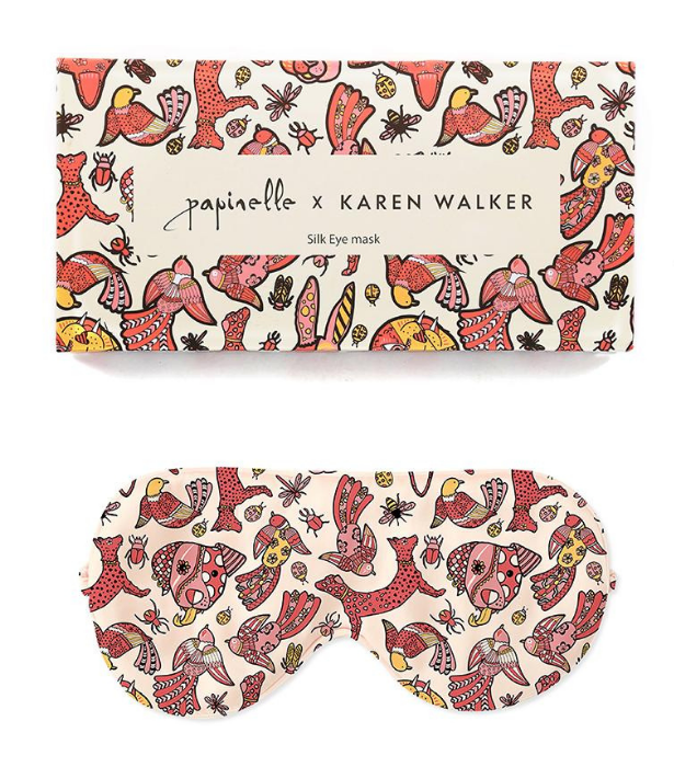 "**Papinelle X Karen Walker silk eye mask** <br><br>Notable fashion label and designer, Karen Walker, has teamed with luxe sleepwear label, Papinelle in the collab of our *literal* dreams.  <br><br>  Their limited edition 100% silk sleep mask is perfect for the loved ones in your life who need their beauty sleep. <br><br>   Shop the stylish sleep mask, $49.95, [here.](https://www.papinelle.com/collections/papinelle-x-karen-walker/products/karen-walker-crazy-animal-boxed-silk-eye-mask|target=""_blank"")"