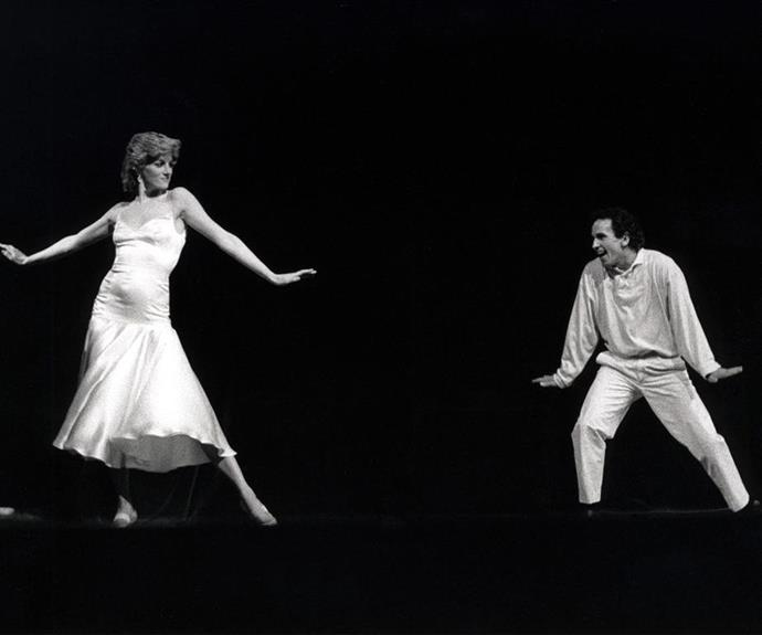 In 1985, Princess Diana organised a surprise dance performance with ballet dancer Wayne Sleep for Prince Charles.