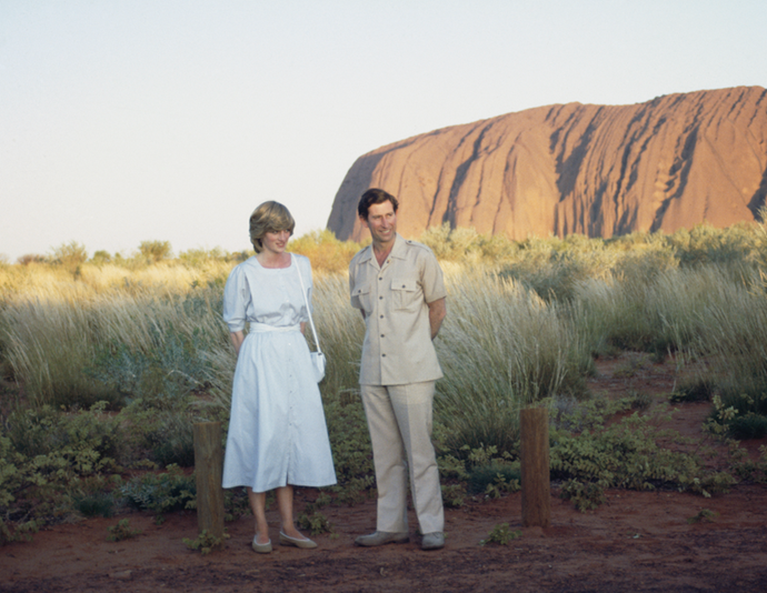 The new royal parents visited Uluru among other places during the milestone tour of Australia.
