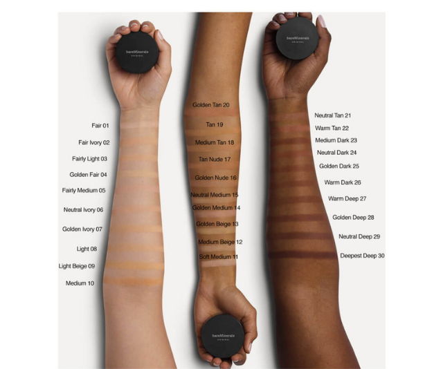 """**Bareminerals** <br><br>  If you prefer a powder foundation, bareMinerals has got you covered with their Original SPF 15 Foundation. Buildable according to the coverage you desire, it's also available in 30 shades. <br><br>  bareMinerals Original SPF 15 Foundation, $51, available at [Mecca](https://www.mecca.com.au/bareminerals/original-spf-15-foundation/V-012639.html?cgpath=brands-barees