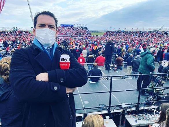 Pete was sent to Washington DC to cover the US election.