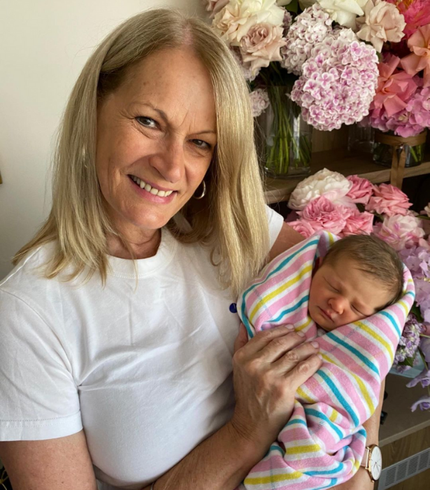 """My beautiful new granddaughter , Elle. Love her already. 😍"" Anna's mum Judith shared."