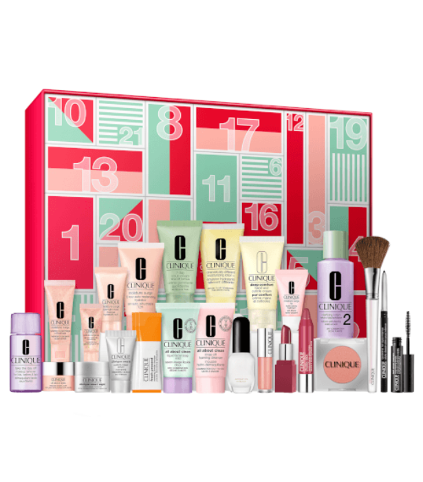 "**Clinique** <br><br>  While many beauty calendars do just 12 days of gifting, beloved brand Clinique has blessed us with a double-serving of beauty goodness in their 24 days advent calendar. <br><br> 24 Days of Clinique, $175 (worth a whopping $391) can be purchased from [AdoreBeauty.](https://www.adorebeauty.com.au/clinique/clinique-24-days-of-clinique-97.html?istCompanyId=6e5a22db-9648-4be9-b321-72cfbea93443&istFeedId=686e45b5-4634-450f-baaf-c93acecca972&istItemId=iqtwlimlq&istBid=tztx&gclid=Cj0KCQiAwMP9BRCzARIsAPWTJ_FRscZTzRznYR9c4RWUZ8kgRh8AzWWnhg_Hl6RqEKcTozAjt3eElUoaAo74EALw_wcB|target=""_blank"")"