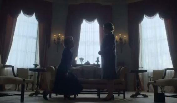 In The Queen and Thatcher's first scene together, the pair are both seen with Launer bags.