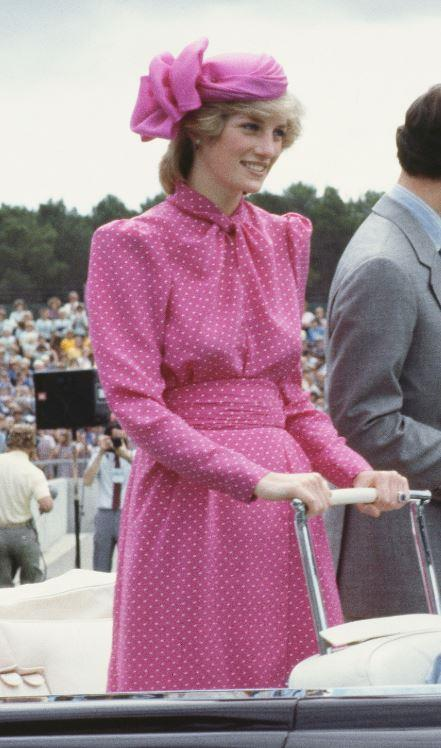 Diana was known for her ability to suit quite literally any colour on the planet - and bright pink was old hat for this style icon.