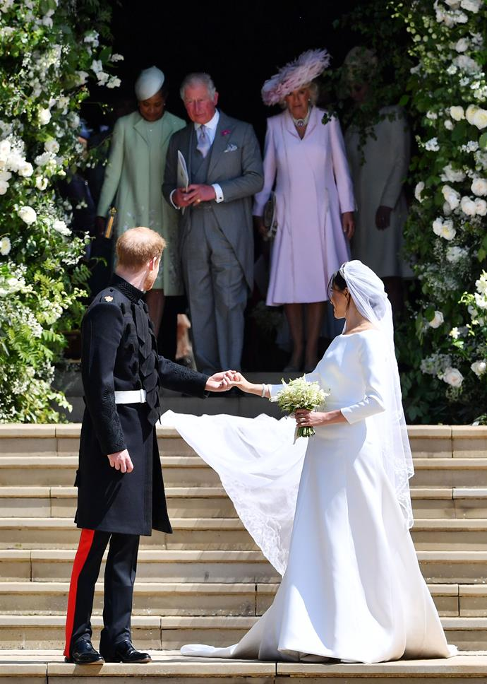 Prince Charles re-wore one of his suits from the 80s for the wedding of Duchess Meghan and Prince Harry.
