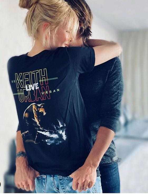 His number one fan! Nicole proudly wore a Keith Urban Live T-shirt to help raise awareness for Aus Music T-Shirt Day, which is on Friday November 20.