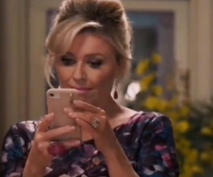 Emily Symons has shed some fascinating insights into one particular scene which aired on the soapie this week.