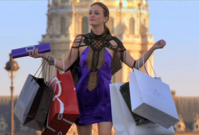 Blair Waldorf: Shopping icon.
