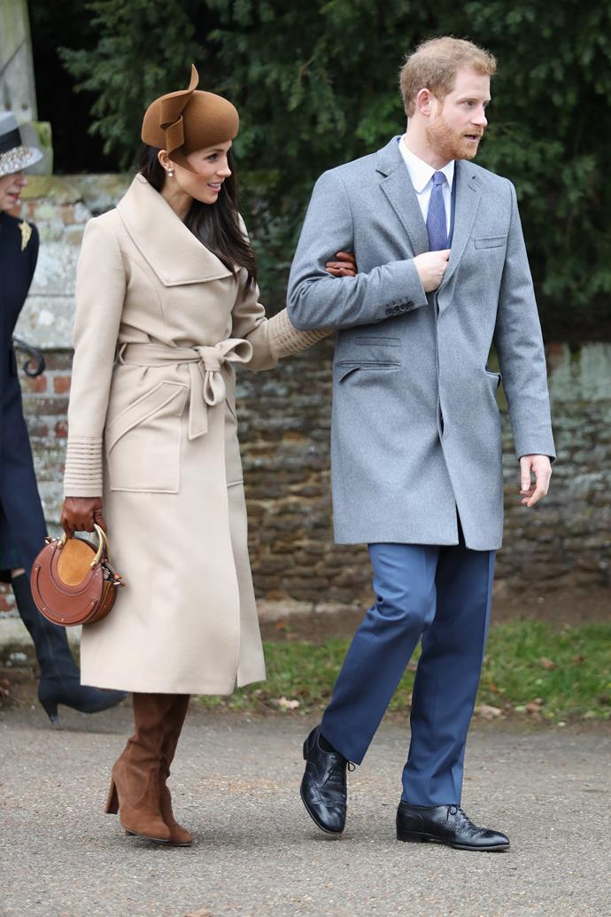 December 2017 marked an historial moment - the soon-to-be Duchess Meghan's first royal Christmas. You can't blame her for going all out with her camel-toned outfit. And the Chloe bag? A chefs kiss personified if we ever saw one. Check out our favourite match up styles below.