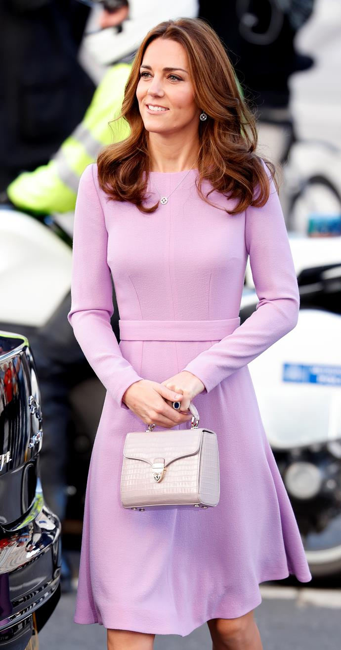 Queen Kate... ahem, Princess Kate, is the epitome of chic - just have a peep at this 2018 pastel-perfected look she rocked. Her mini Aspinal of London bag was the cherry on top. Check out our favourite match up styles below.