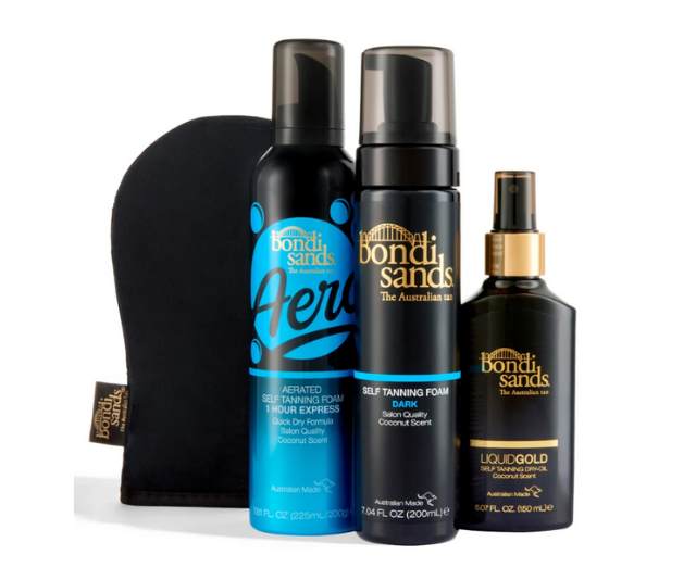 """Keep up your golden glow year round with [this Bondi Sands tanning pack](https://bondisands.com.au/products/classic-bondi-babe-bundle
