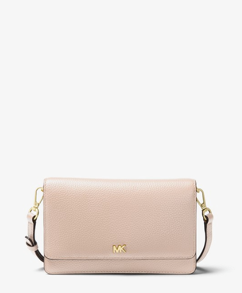 """You can't go wrong with a trusty Michael Kors, and this pastel pink creation is the perfect plus one to your next evening out. $139 (on sale), **[buy it online here](https://www.michaelkors.global/en_AU/pebbled-leather-convertible-crossbody-bag/_/R-32T8GF5C1L