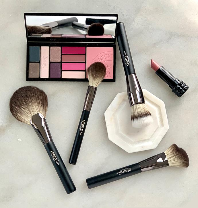 *Pictured: Glam by Manicare Pro F1. Blending Foundation Brush, Glam by Manicare Glam Pro S1. Sculpting Brush, Glam by Manicare Glam Pro P1. Setting Powder Brush and Glam by Manicare Glam Pro H1. Highlighter Brush*