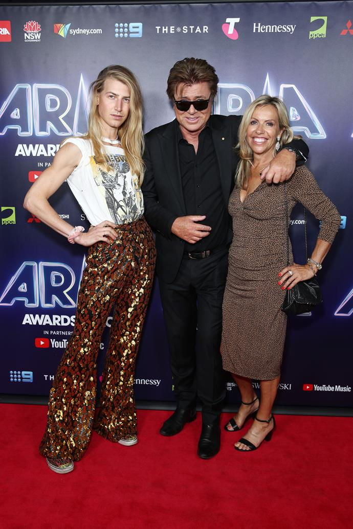 **Christina Wilkins, Richard Wilkins & Nicola Dale** <br><br>  The Wilkins made the transition from pool-side to red carpet seamlessly.