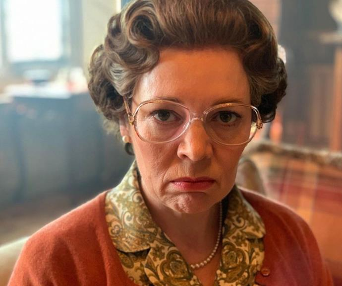 Not to be outdone by her on-screen husband, Olivia Colman follows suit with this extremely surly expression.